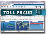 Toll fraud alarms